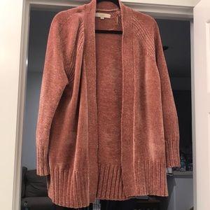 Rose Chenille LOFT women's cardigan